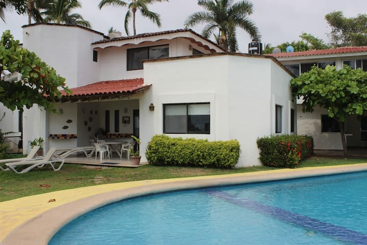 House in Lo de Marcos, with Pool and beach front