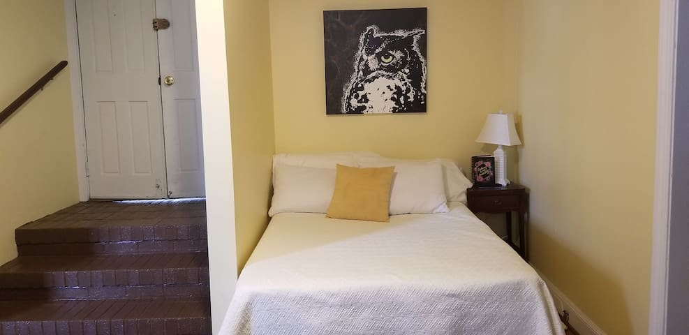 Full size also known as double bed with original art.
