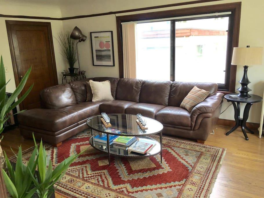 Our boho chic living room.
