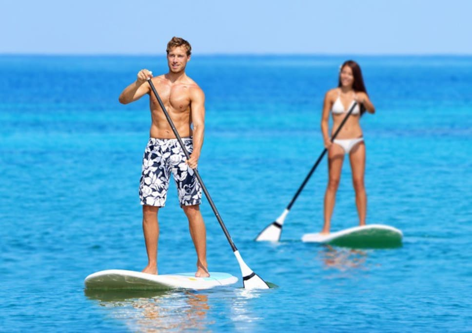 We provide Kayaks, Stand Up Paddle Boards and Boogie Boards free of charge