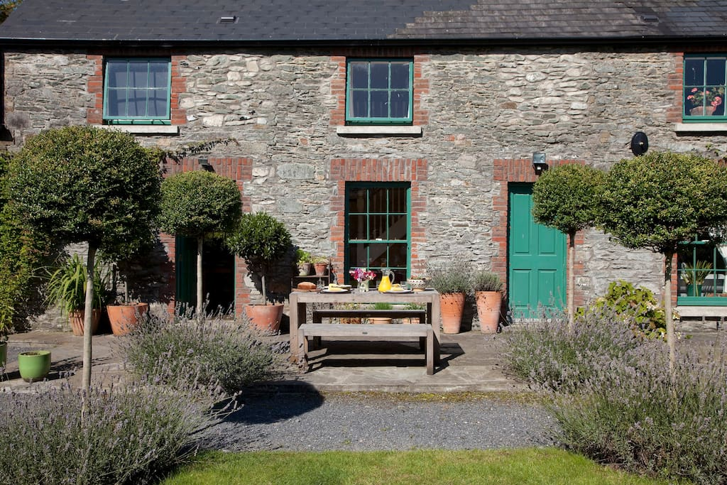 The terrace is a great place for breakfast, lunch or dinner - weather permitting - it is Ireland !