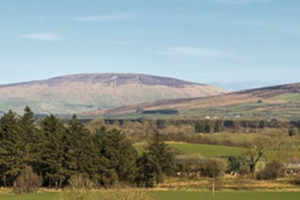 Knocklayde mountain and surrounding countryside from Pharis Smithy