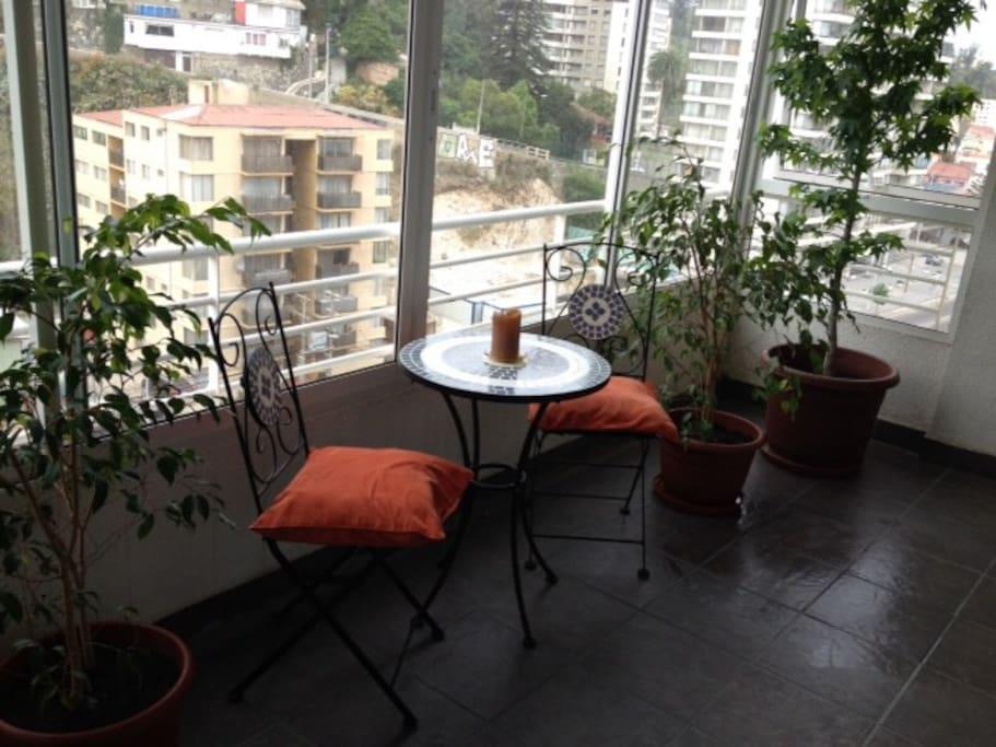 Terraza departamento ... piso 10