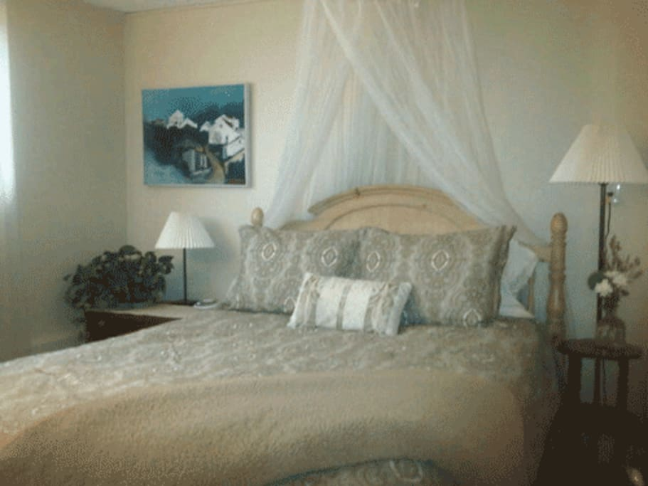 Charming bedroom with Queen Bed
