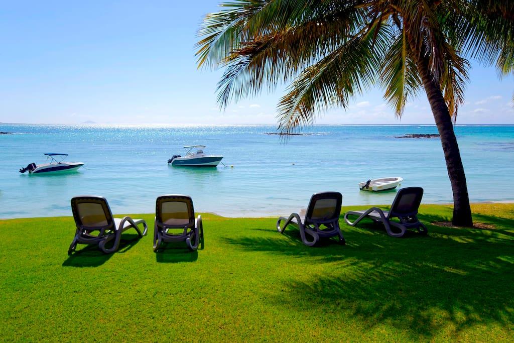 Private beach facing the Ocean