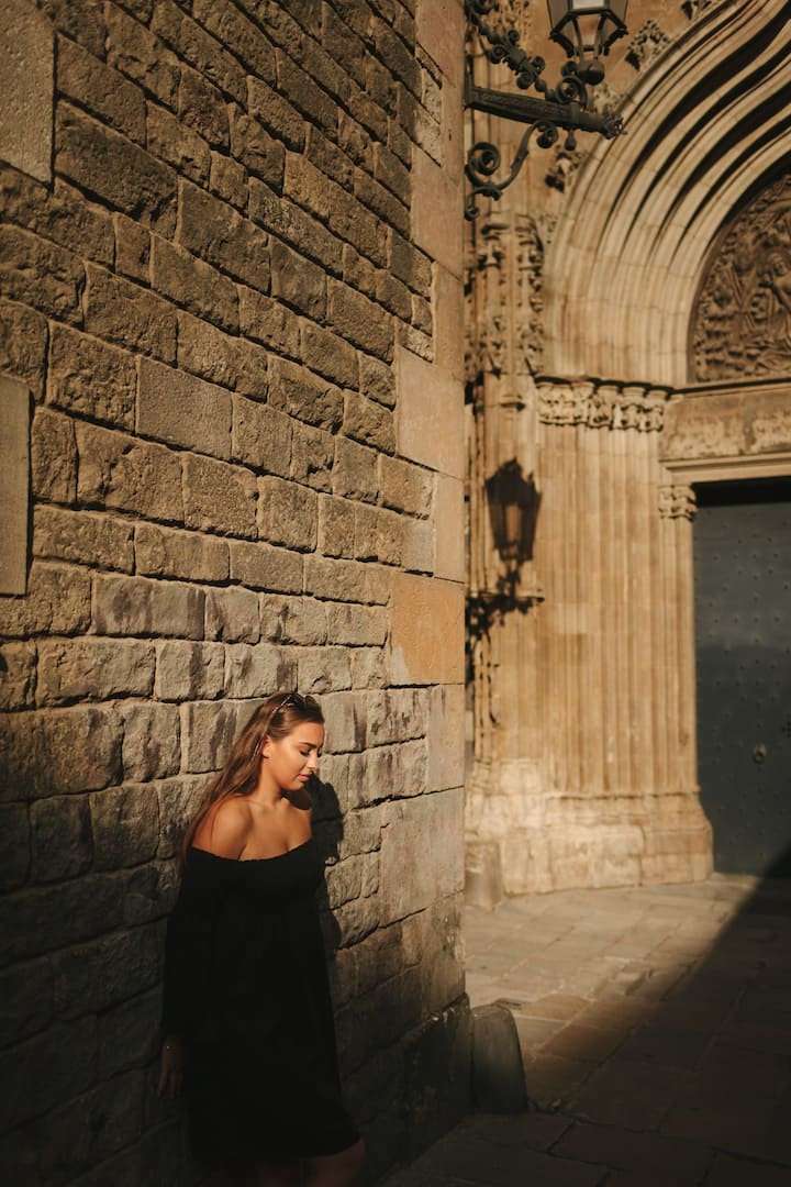 Portrait in Gothic quarter
