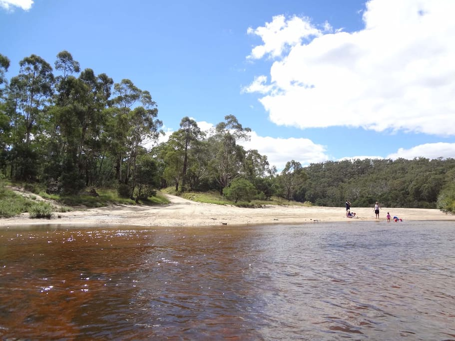 Nearby rivers for swimming & canoeing