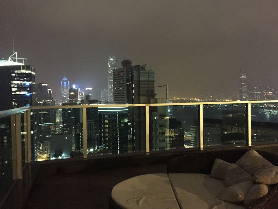 View from rooftop lounge