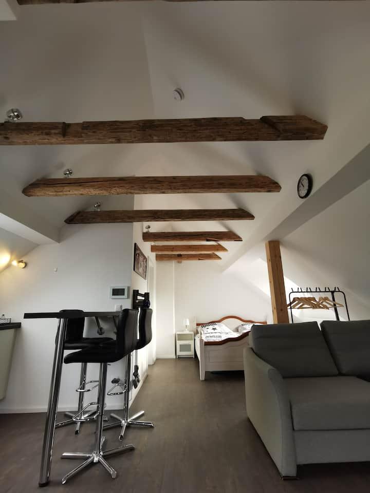 Dachgeschoss-Ferienwohnung in zentraler Lage