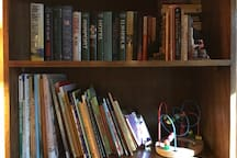 Plenty of books to choose to read during your stay for young and old.