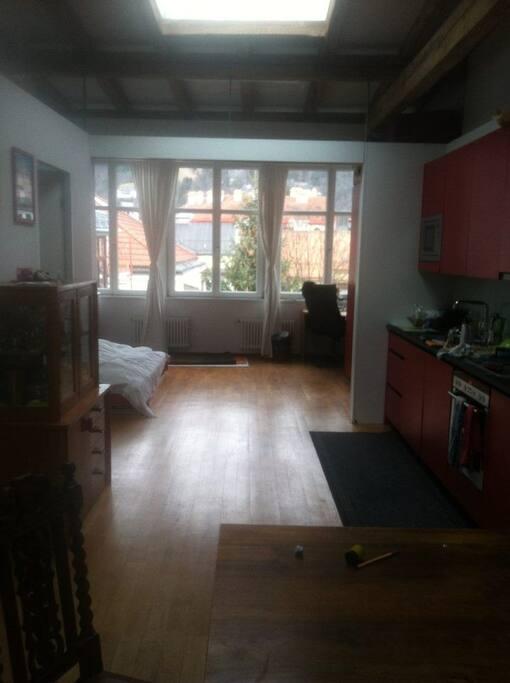 Küche, Schlafzimmer