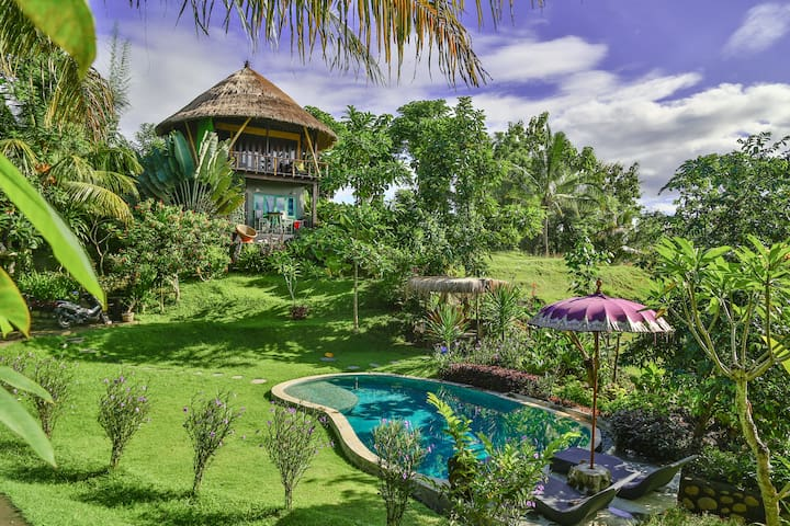 BALIAN TREEHOUSE w beautiful pool - Balian Beach, Bali - Huis