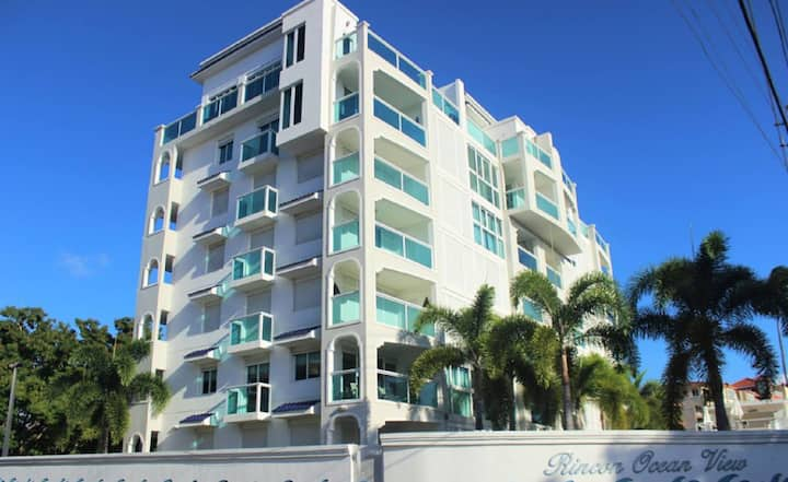 Luxury Ocean View Condo steps from the beach..