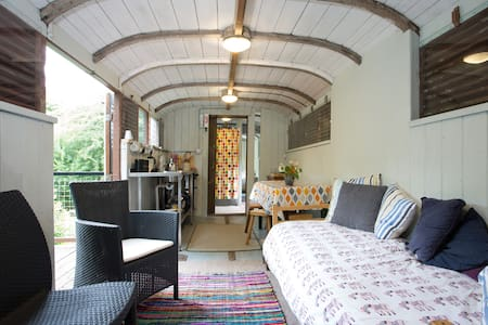 HOLIDAY IN A GWR RAILWAY CARRIAGE! - Saint Austell