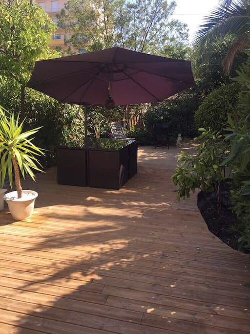 New wooden terrace 80 m2