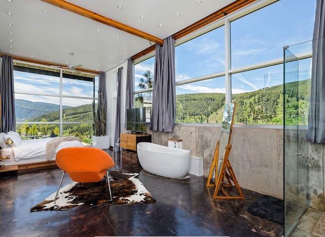 Glass house with 360 views near Aspen!