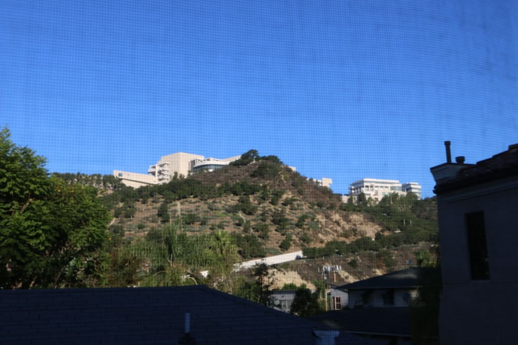 Dining room view on Getty Museum