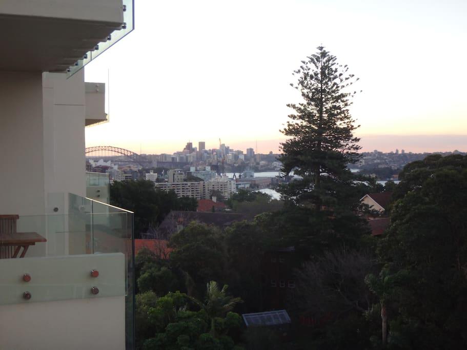 Balcony view of the Harbour Bridge!