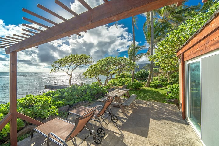 Oceanfront 1bedroom: OCEAN SUN at Tiki Moon Villas - Laie - Villa