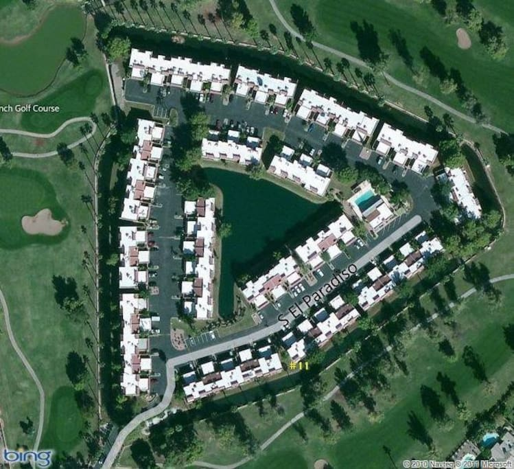Aerial View of our Community, Surrounded by Golf Course!