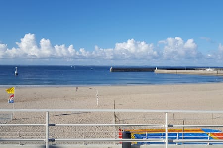Apartment beach front, panoramic terrace - Quiberon