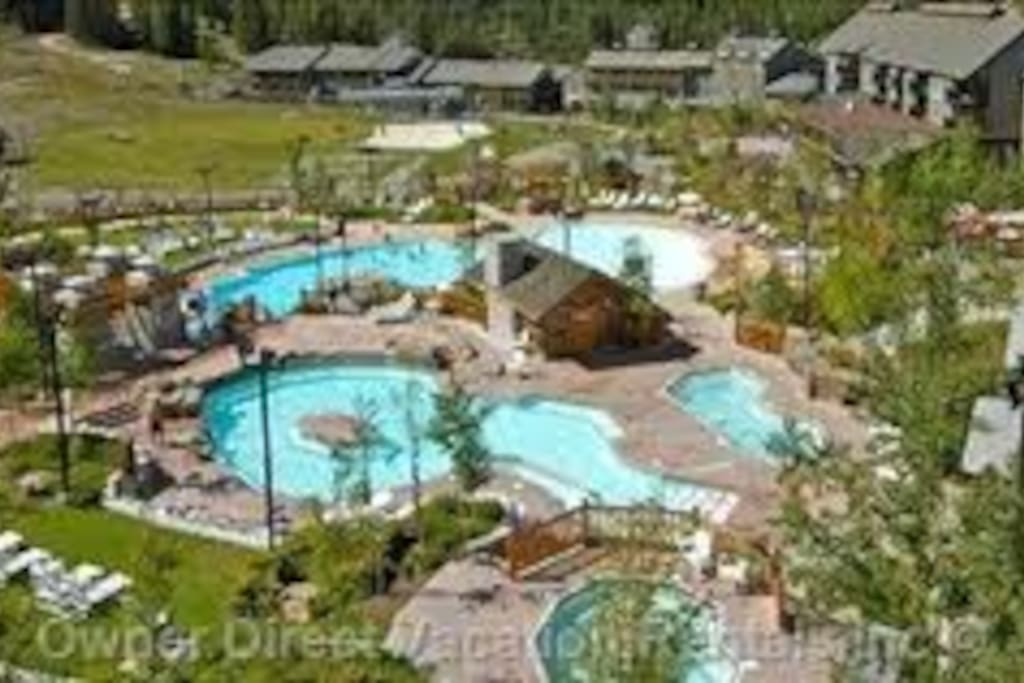 Swimming pool and water slides