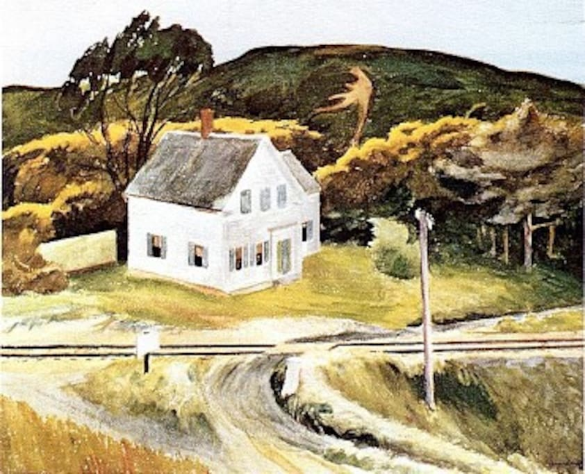 edward hopper's captain kelly's house (1931)