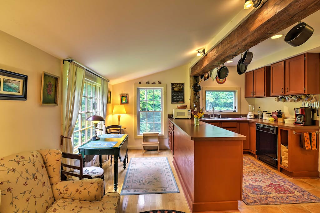 The charming kitchen has everything you'll need to prepare some of your favorite home-cooked meals.