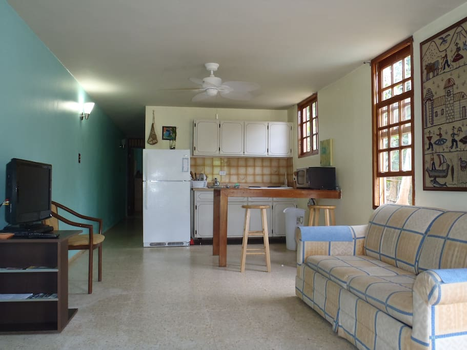This is a two story building with four apartments, two on each floor.  There is plenty parkings space,  electronic gate access,gazebo for BBQ or activities.