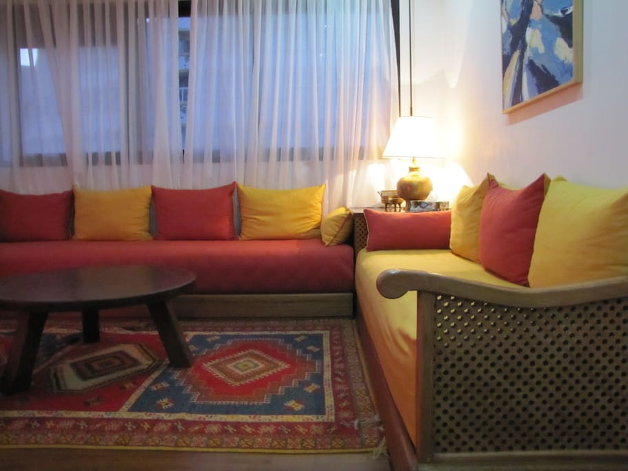 Moroccan style living room
