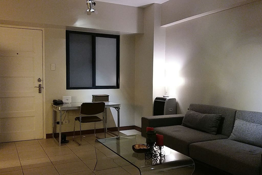 Living Area - there is intentionally no TV in this area as it is a sanctuary of peace and quiet - the Bose Bluetooth speaker are nearby to add soothing tunes.  This area has brand new inverter aircon for exceptional comfort
