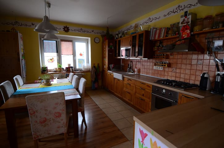 Big house + 2xparking/garden/grill - Praag - Huis