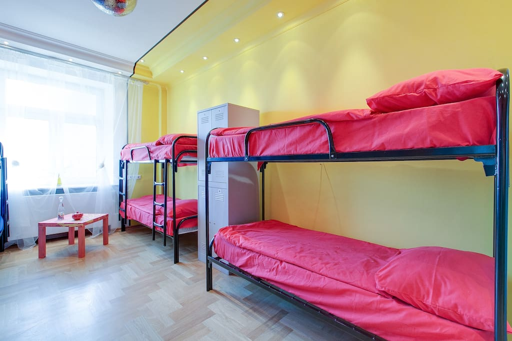 8-bed Mixed Dormitory Room