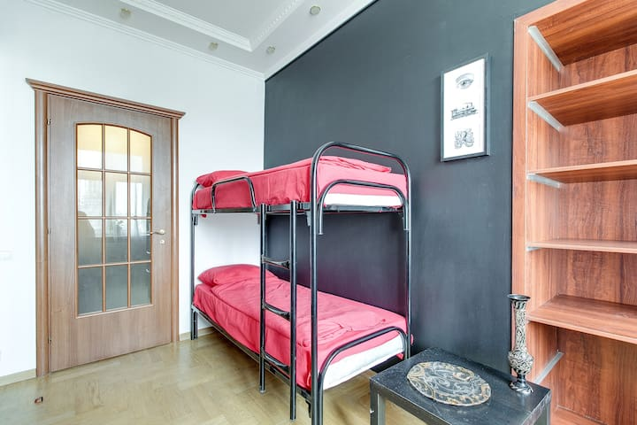 A bed in 4-bed Mixed Dormitory Room