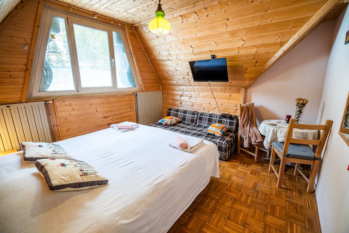 Cosy Double Room, Log Pod Mangartom