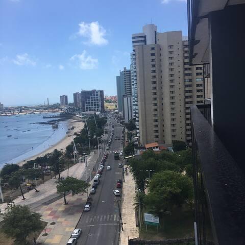 Flat  de frente  ao mar Na Beira Mar - Fortaleza