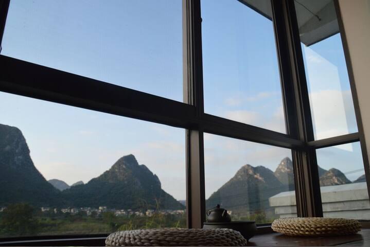 莲遇乡村民宿酒店-山景双床房 - Guilin - Villa