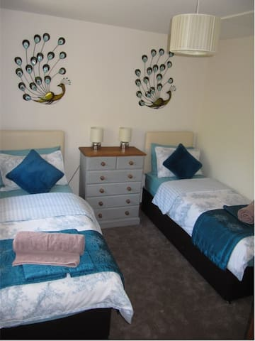 Twin Room which can be made up as a king sized bed