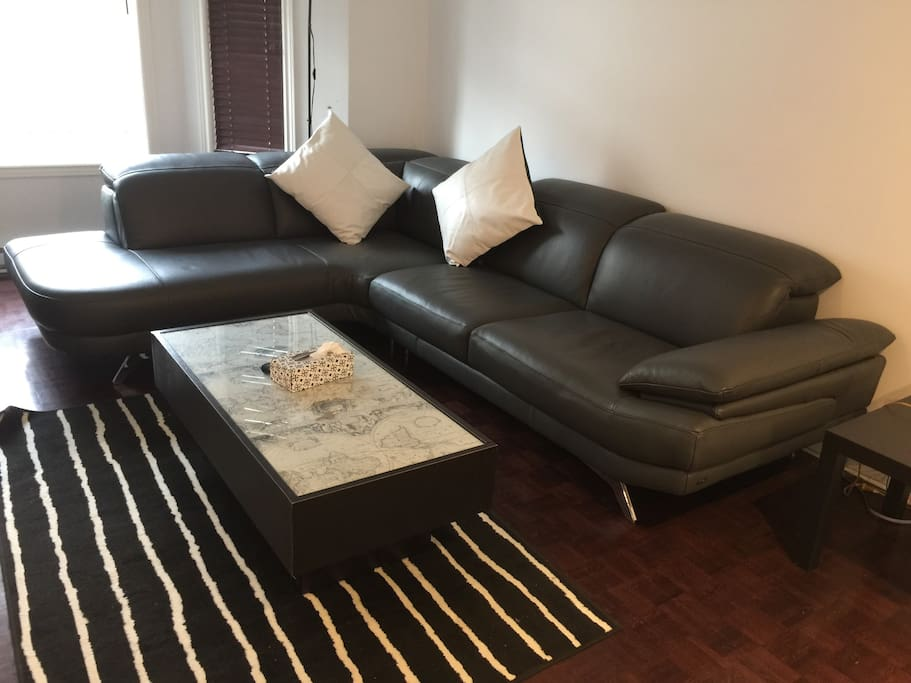Leather sectional for your comfort