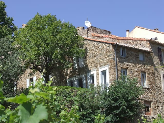 Big holiday home in wine village - Roquebrun