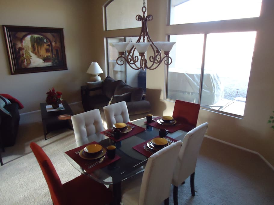 Dining room and sitting area