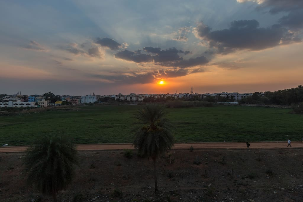 Enjoy the view...uninterrupted beautiful sunrise and sunset view :)