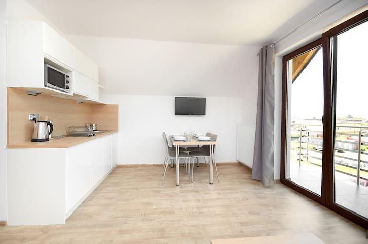 Nowoczesny apartament z balkonem, 50m od morza! 8 - Jastarnia