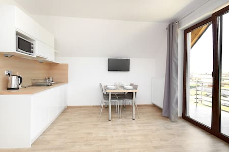 Nowoczesny apartament z balkonem, 50m od morza! 8 - Jastarnia - Apartemen