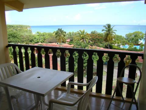 Studio vue mer, plages,bar-piscine, option voiture