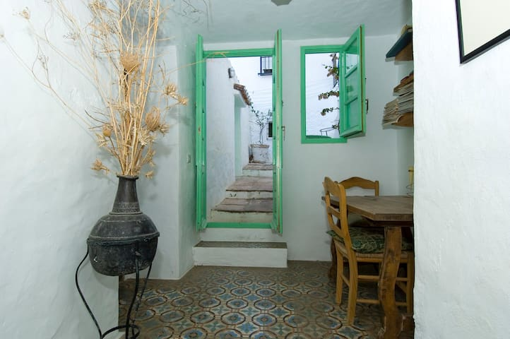 Access to the roof terrace with stunning views over Casares village are UNESCO world Heritage site