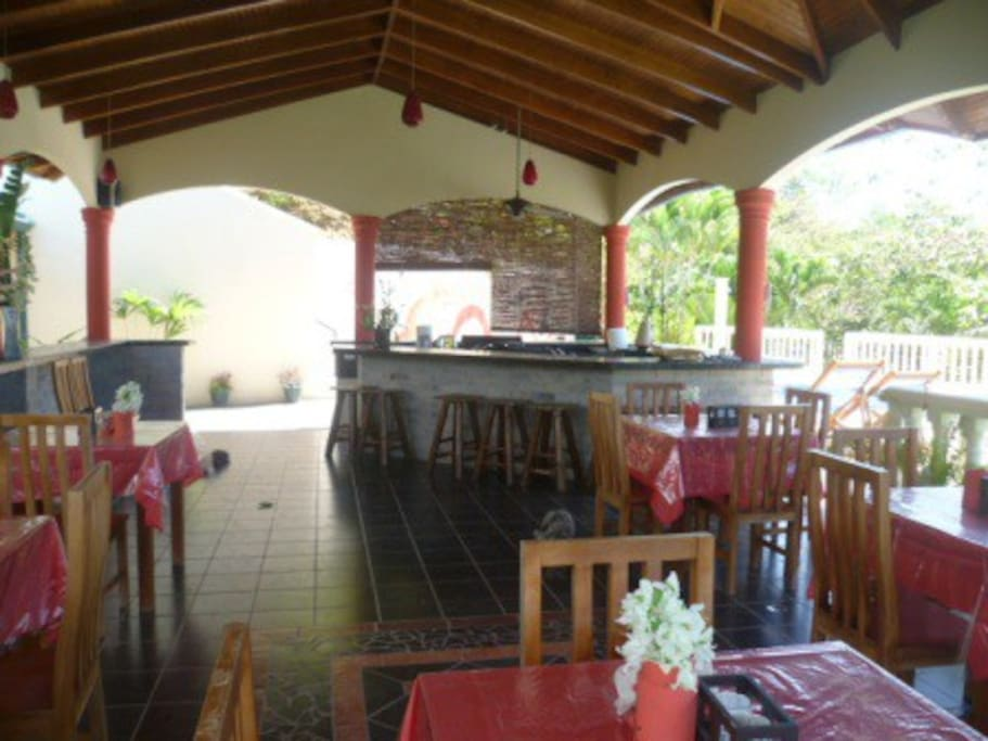 Our rancho and outdoor cooking area next tot he pool