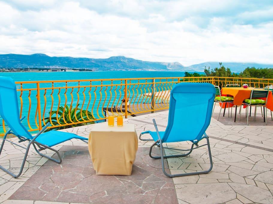"Mastrinka - Ciovo, Trogir, Dalmatia - Apartments ""Nely"" with beautiful sea view"