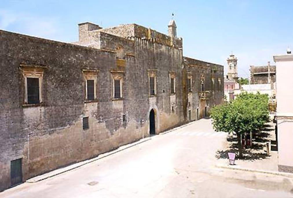 Castello E Bosco Baronali davanti all'app.