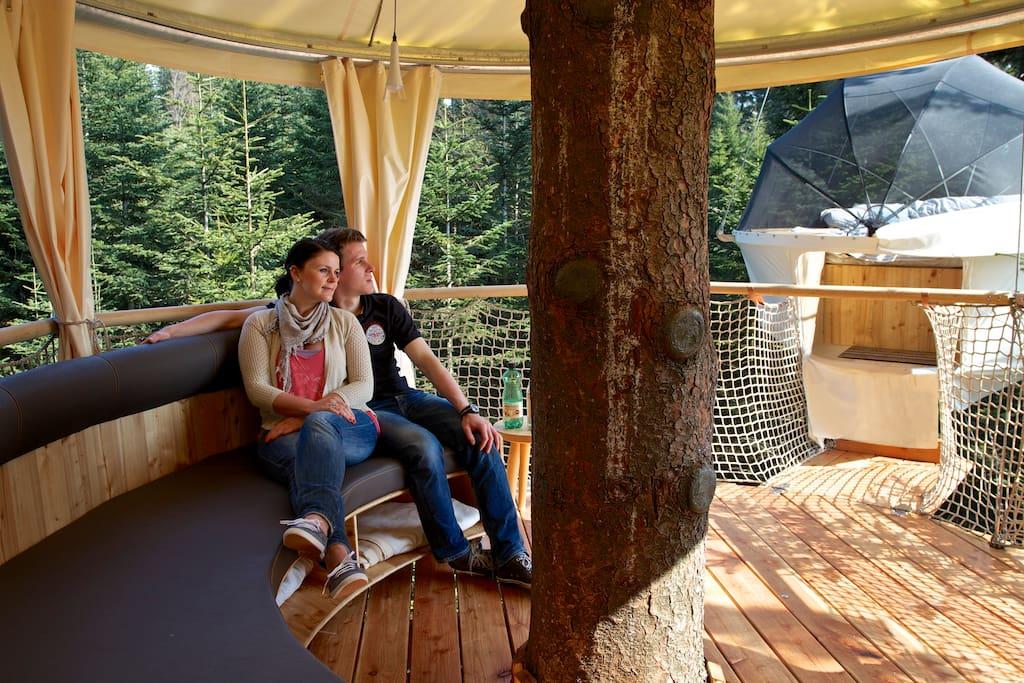 Die Lounge - der Aufenthalts- und Frühstücksraum